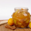 Jar with apple jam — Stock Photo #29886703