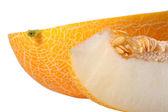 Melone con una fetta — Foto Stock