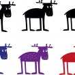 Amusing elks cartoon — Image vectorielle