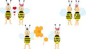 Bees cartoon — Stock Vector
