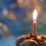 Birthday candle — Stock Photo