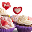 Valentine cupcakes — Stock Photo