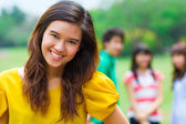 Young woman in the park. — Stock Photo