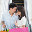 Asian couple go shopping together — Stock Photo