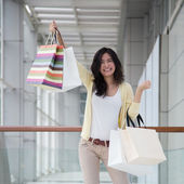 Mujer asiática de compras — Foto de Stock