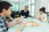 Office people in meeting — Stock Photo