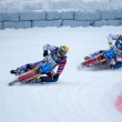 Ice speedway of gladiators in the Krasnogorsk Russia. - Stock Photo