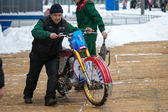 Ice speedway of gladiators in the Krasnogorsk Russia. — Stock Photo