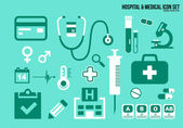 Icons set hospital & Medical — Stock Vector