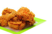Gold fried chicken — Stock Photo