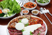 Korean cuisine : barbecue grill set — Stock Photo