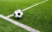 Futbol futbol alanı Stadı çim hattı — Stok fotoğraf