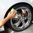 Stock Photo: Coated wheels