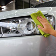 Hand with wipe car polishing — Stockfoto #32011495
