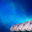 Abstract Satellite transmission datdigital blue effect background — Stock Photo #32408109