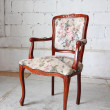 Classic vintage old wooden chair — Stock Photo