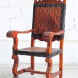 Classic vintage wooden chair — Stock Photo