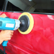 Polishing the car — Stock Photo