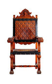 Vintage wooden chair isolated on white clipping path — Stock Photo