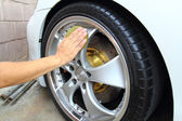 Coated wheels — Stock Photo