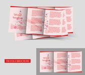 Tri-fold brochureontwerp — Stockvector