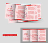 Design de brochura tri fold — Vetorial Stock