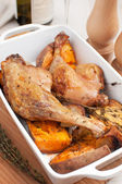 Roasted duck legs with vegetables — Stock Photo
