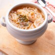 Noodle soup with vegetables and mushrooms — Stock Photo #21513017