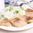 Steamed fish fillet pieces — Stock Photo #21513805