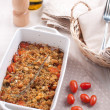 Baked cherry tomatoes with bread crumbs — Stock Photo #21514089
