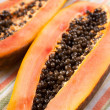 Papaya cut in half — Stock Photo