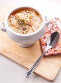Thai tom yum noodle soup — Stock Photo