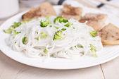 白い米麺のプレート — ストック写真