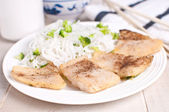 Steamed fish fillet pieces — Stock fotografie