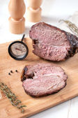 Slice of roasted meat — Stock Photo