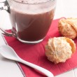 Coconut cookies and hot chocolate — Stock Photo #21531027
