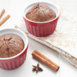 Chocolate brownie cake with cinnamon - Foto Stock