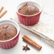 Chocolate brownie cake with cinnamon - Stockfoto