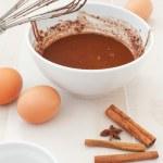 Chocolate batter preparation — Stock Photo #21836267