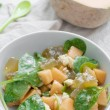 Salad with melon - Stock Photo
