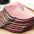 Stock Photo: Sliced deli beef snack