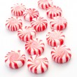Striped holiday mint candies — Stock Photo