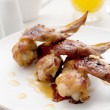 Restaurant chicken wings — Stock Photo