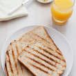 Toast for breakfast — Stock Photo