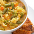 Curry soup with vegetables — Stock Photo #22221709