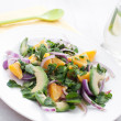 Red onion, avocado and oranges salad — Stock Photo #22222365