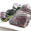 Beef skirt steak - Stock Photo