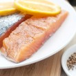 Stock Photo: Salted salmon fillets