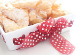 Traditional polish cookies chrusciki — Stock Photo