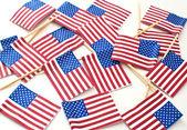 USA flags  — Stock Photo